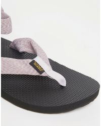 Teva - Black Original Toe Post Marl Orchid Flat Sandals - Lyst