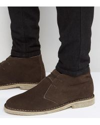 ASOS Desert Boots In Brown Suede - Wide Fit Available for men