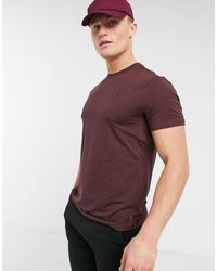 Newport - T-shirt bordeaux di Calvin Klein in Red da Uomo