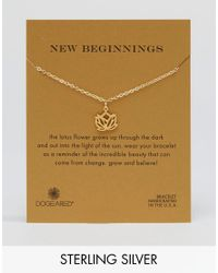 Dogeared - Metallic Dogeraed Gold Plated New Beginnings Reminder Bracelet - Lyst