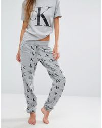 Calvin Klein Gray Retro Pyjama Trouser