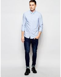 G-Star RAW - Shirt Core Slim Fit Stretch In Blue for Men - Lyst