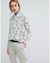 Sportmax Code - White Dog Print Shirt - Lyst