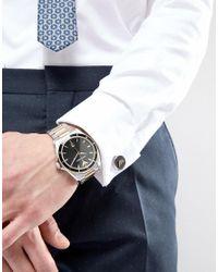 Emporio Armani - Metallic Ar80017 Bracelet Watch & Cufflinks Gift Set In Mixed Metal for Men - Lyst
