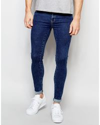 Dr. Denim - Blue Jeans Dixy Extreme Super Skinny 70s Stone Wash for Men - Lyst