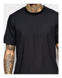ASOS | Boxy T-shirt In Black With Raw Edge Hem - Black for Men | Lyst
