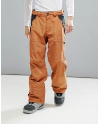DC Shoes Brown Snow Nomad Trousers In 30k Sympatex Fabric for men