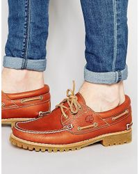 Timberland - Black Classic Lug Boat Shoes for Men - Lyst