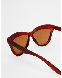 ToyShades - Brown Hooper Matte Cat Eye Sunglasses - Lyst