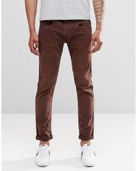Replay | Anbass Slim Jeans In Red Mahogany for Men | Lyst
