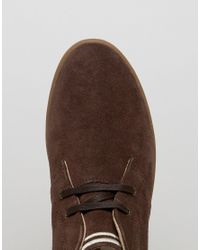 Fred Perry Brown Byron Mid Suede Sneakers for men