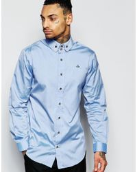 Vivienne Westwood - Blue Oxford Shirt In Regular Fit for Men - Lyst