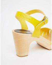 Swedish Hasbeens - Yellow Fredrica Sandals - Lyst