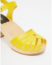Swedish Hasbeens | Yellow Fredrica Sandals | Lyst