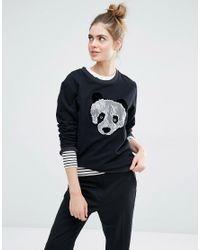 Sportmax Code Black Panda Sweatshirt
