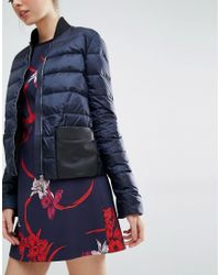 Sportmax Code | Blue Padded Jacket With Contrast Pocket | Lyst