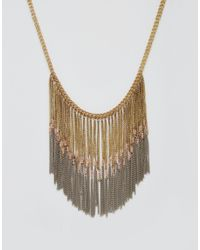 Pieces | Metallic Taneka Statement Necklace | Lyst