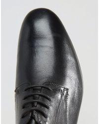H by Hudson Black Champlain Leather Derby Shoes for men