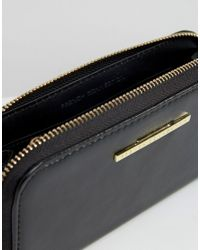 French Connection Black Zip Around Wallet