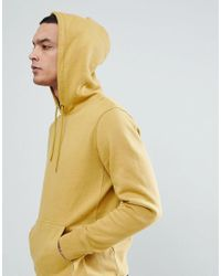 Stussy - Hoodie With Jacquard Rib In Yellow for Men - Lyst