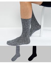 CALVIN KLEIN 205W39NYC Multicolor 2 Pack Boot Socks for men