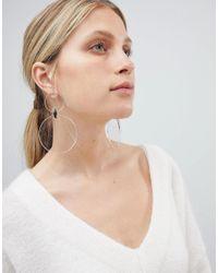 ASOS DESIGN - Metallic Design Resin Disc Drop Earrings - Lyst