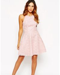Warehouse Natural Lace Prom Dress