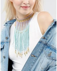 ASOS | Blue Mermaid Ombre Choker Necklace | Lyst