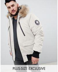 Bomber avec capuche en fausse fourrure - - Exclusivité ASOS Good For Nothing pour homme en coloris White