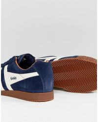 Harrier Sneakers With Gum Sole in Navy