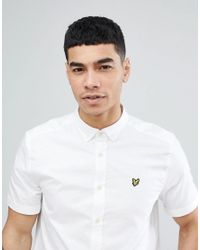 Lyle & Scott - Short Sleeve Shirt In White for Men - Lyst