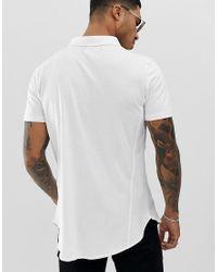 Camicia a maniche corte di Religion in White da Uomo