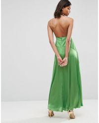 ASOS - Green Cami Thigh Split Maxi Dress - Lyst