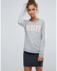 Vero Moda Gray Slogan Sweatshirt