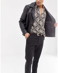 ASOS Black Slim Belt for men