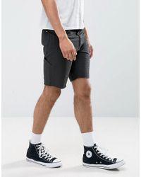 Brixton Black Cargo Shorts for men