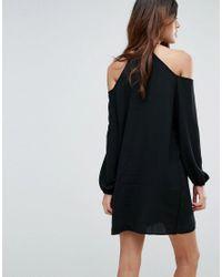 Vero Moda Black Cold Shoulder Tunic Dress