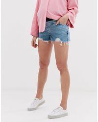Short en jean mom - clair New Look en coloris Blue