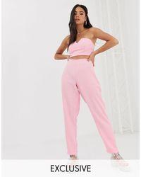 Inspired - Pantaloni di Reclaimed (vintage) in Pink