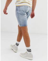 Levi's – 511 – Schmale Jeansshorts mit niedriger Taille und heller Gallatin-Waschung in Blue für Herren