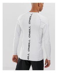 O'neill Sportswear – Skins – Langärmliges Sonnenschutzshirt in White für Herren