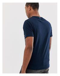 Camiseta a rayas en el pecho en azul marino Burton de hombre de color Blue