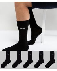 French Connection Black Fcuk 5 Pack Socks for men