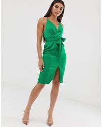 Vestido midi ASOS de color Green