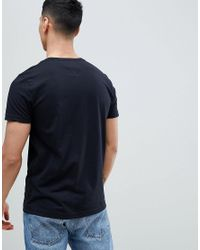 Tommy Hilfiger Icon Colours Th Logo T-shirt In Black for men