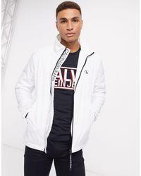 Куртка Харрингтон -белый Calvin Klein для него, цвет: White