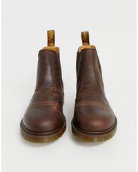 Коричневые Ботинки Челси Dr.martens 2976-коричневый Dr. Martens для него, цвет: Brown