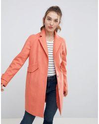 ASOS Pink Asos Pocket Detail Coat