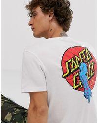 Rob - T-shirt à logo imprimé dans le dos Santa Cruz pour homme en coloris White