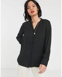 SELECTED Black – Amina – Langärmliges Hemd